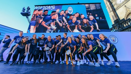 TOGETHER: Players and staff take centre stage at our 2019 Champions parade.