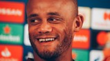 PRESS CONFERENCE: Vincent Kompany addresses the media, ahead of the game...