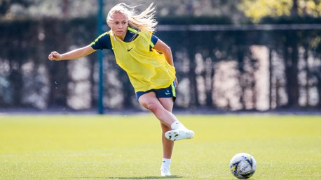 PASS WITH FLYING COLOURS: Claire Emslie spots an opportunity