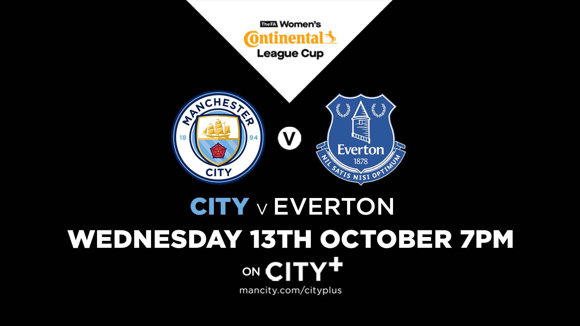 Watch Live: City v Everton in Conti Cup