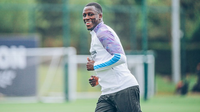 This is smiles better. The irrepressible Benjamin Mendy