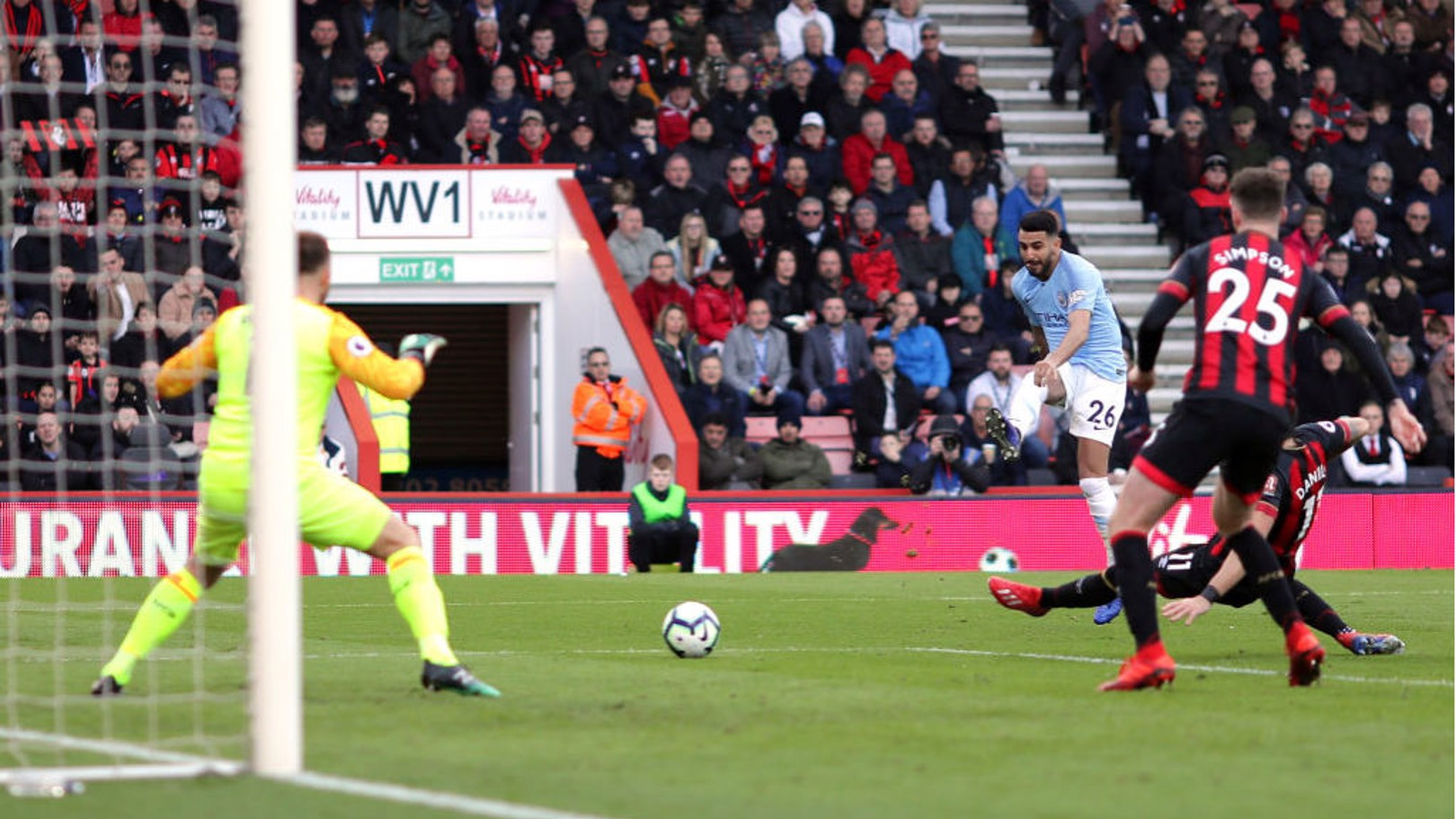 SUPER SUB: Riyad Mahrez breaks the deadlock with a close-range shot early in the second half