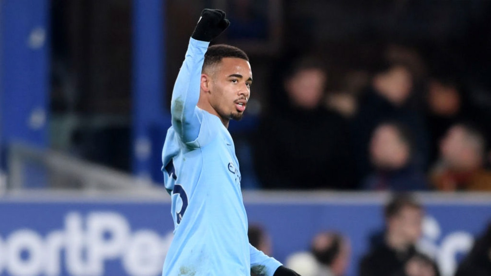 LATE INTERVENTION: Gabriel Jesus celebrates his stoppage time strike