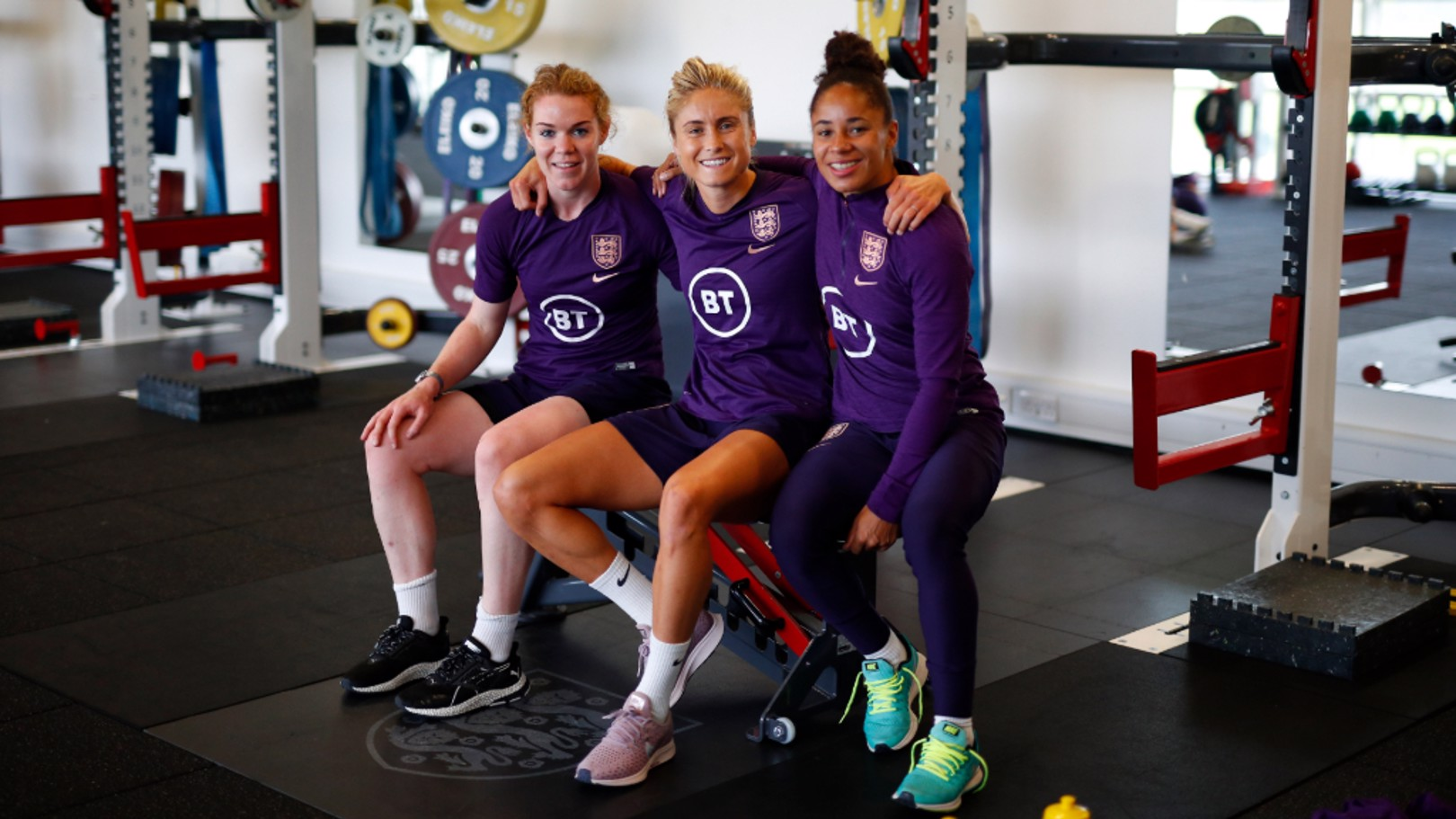 LIONESSES' PRIDE: Aoife Mannion, Steph Houghton and Demi Stokes