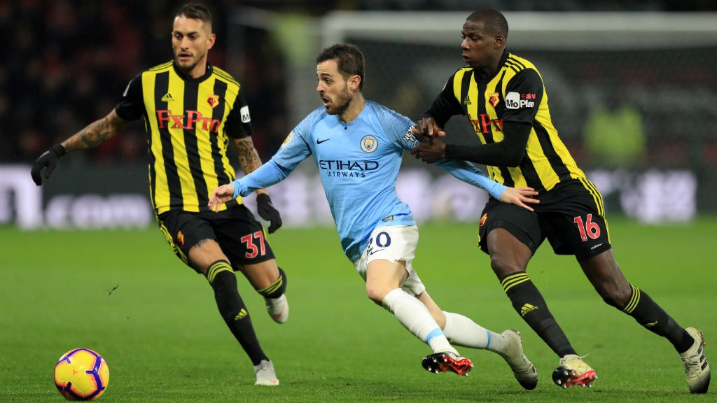 MIDDLE MARCH : Bernardo Silva causes havoc in the Watford defence