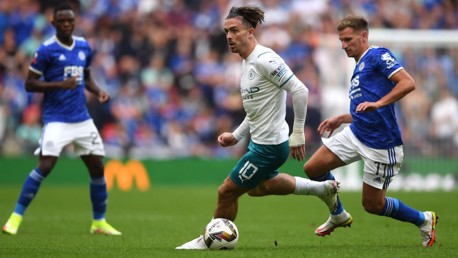 IN THE THICK OF THINGS: Grealish looks to inspire a City winner.