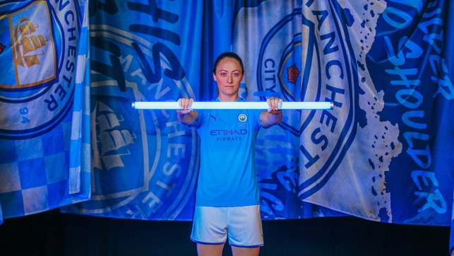 SPIRIT LEVEL : Megan Campbell is raring to go ahead of the Etihad derby