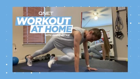 Janine Beckie's home workout: Jumping Jacks and lunges