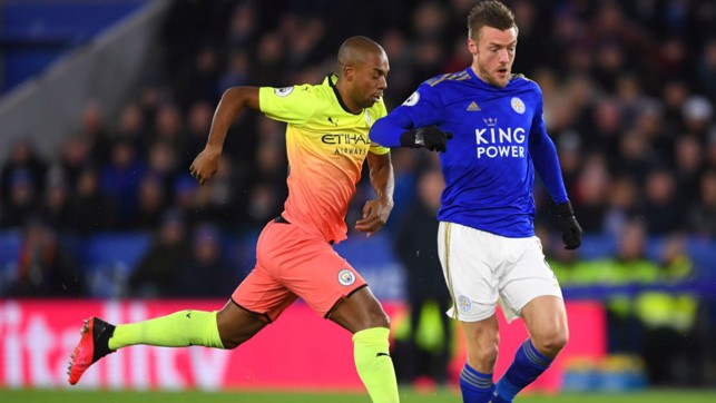 CLOSE CALL: Jamie Vardy gave City a scare with his early shot cannoning back off the post