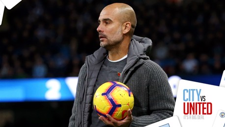 ON THE BALL: Pep Guardiola surveys the scene