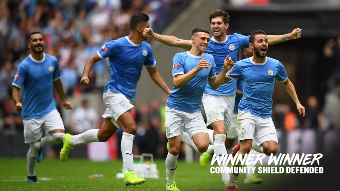 WINNERS: Community Shield champions 2019.