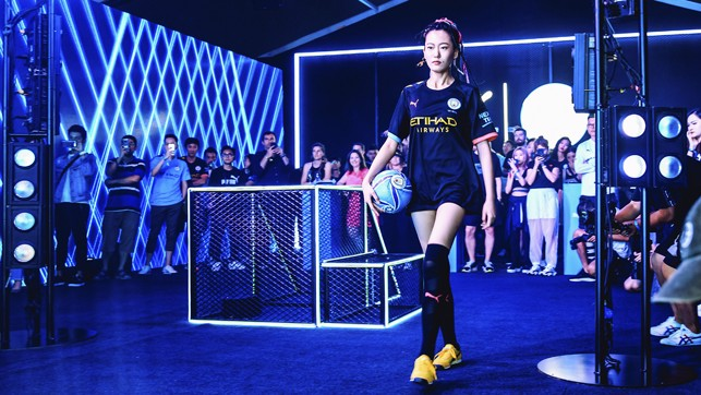 MOOD : The new away kit was also on show