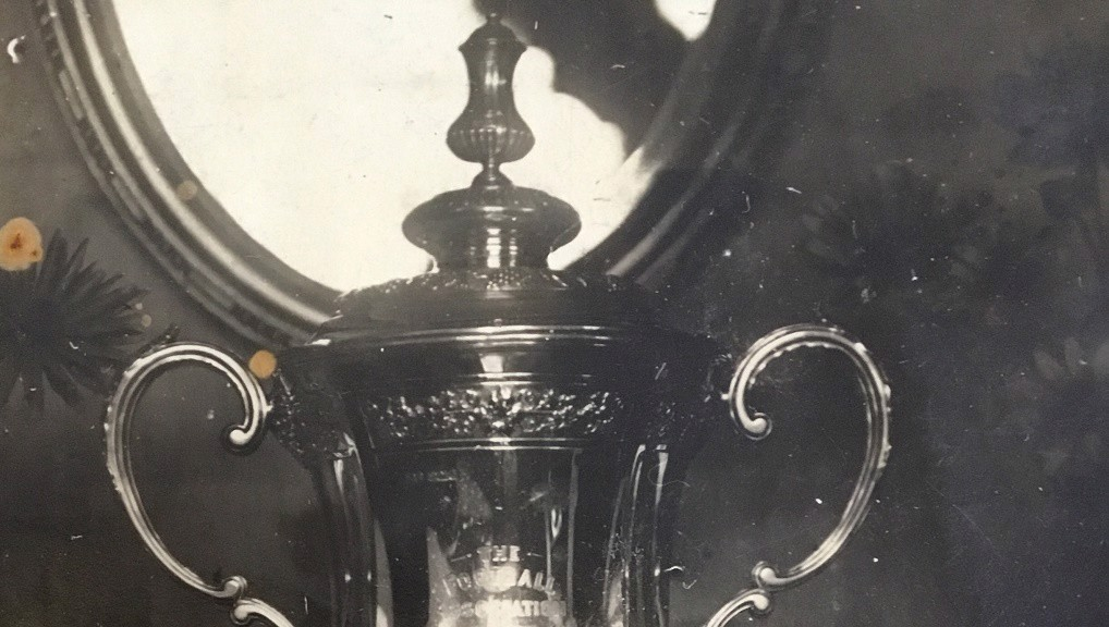 MANTELPIECE SILVERWARE : The FA Cup sits proudly in the Clark's lounge