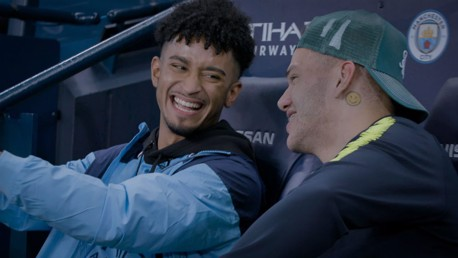 BRAZILIAN BLEND: Young fan Lucas was thrilled by a surprise meeting with Ederson