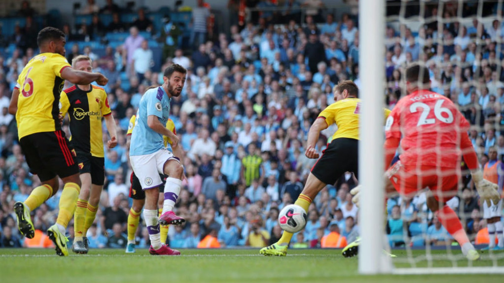 SIX AND THE CITY: Bernardo nets his second and our sixth goal early in the second half