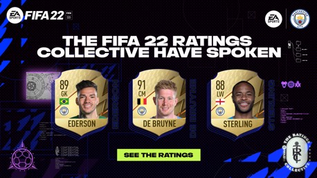 الكشف عن بطاقات لاعبي مانشستر سيتي في لعبة FIFA 22