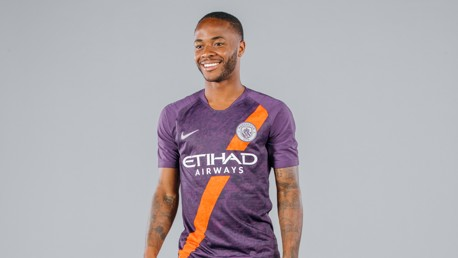WING COMMAND: Raheem Sterling dons City's new third kit