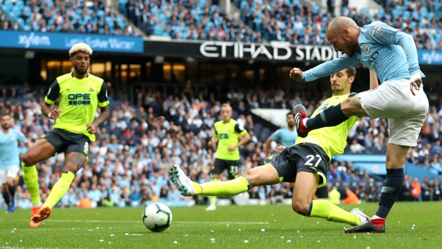 WIZARD : David Silva attempts to weave some magic in the box