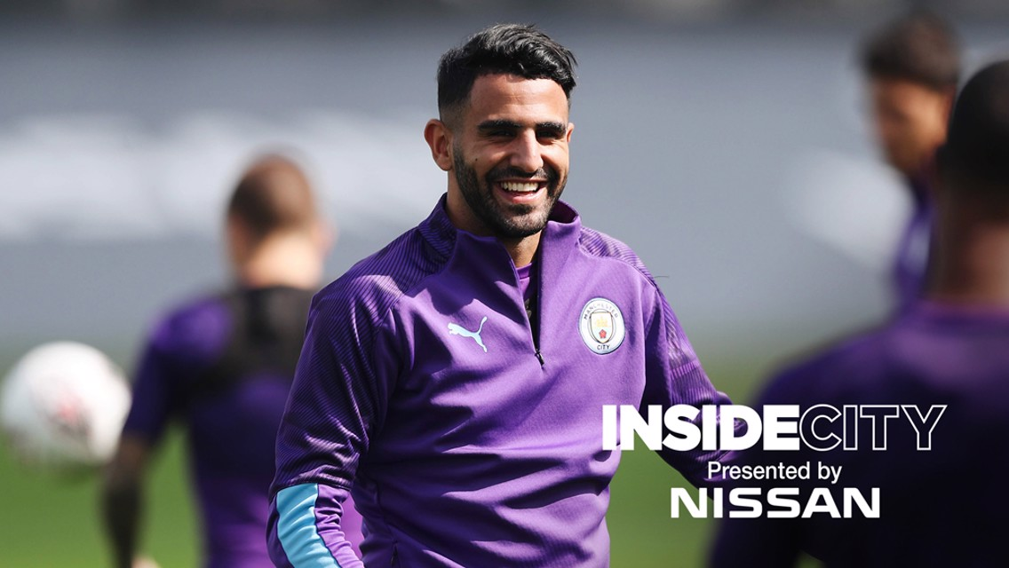 WELCOME BACK: Riyad Mahrez has returned to training ahead of the new season.