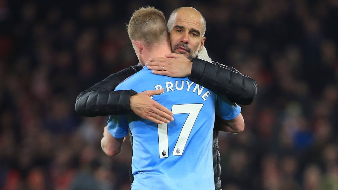 'De Bruyne world's best' says Pep