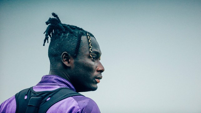 HAIR WE GO : Alpha Diounkou sported a nifty new hairstyle at Monday's session