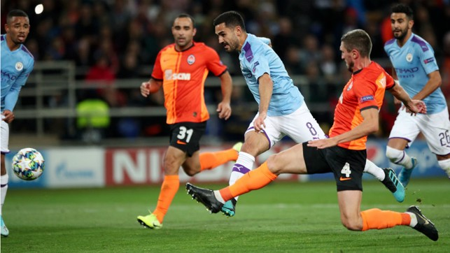 DOUBLE DELIGHT : Ilkay Gundogan strikes for City's second goal