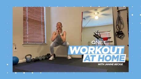 Janine Beckie's home workout: Squats and mountain climbers