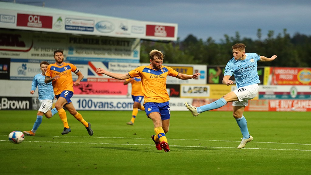 GOAL STRIKE: Liam Delap fires home his first goal