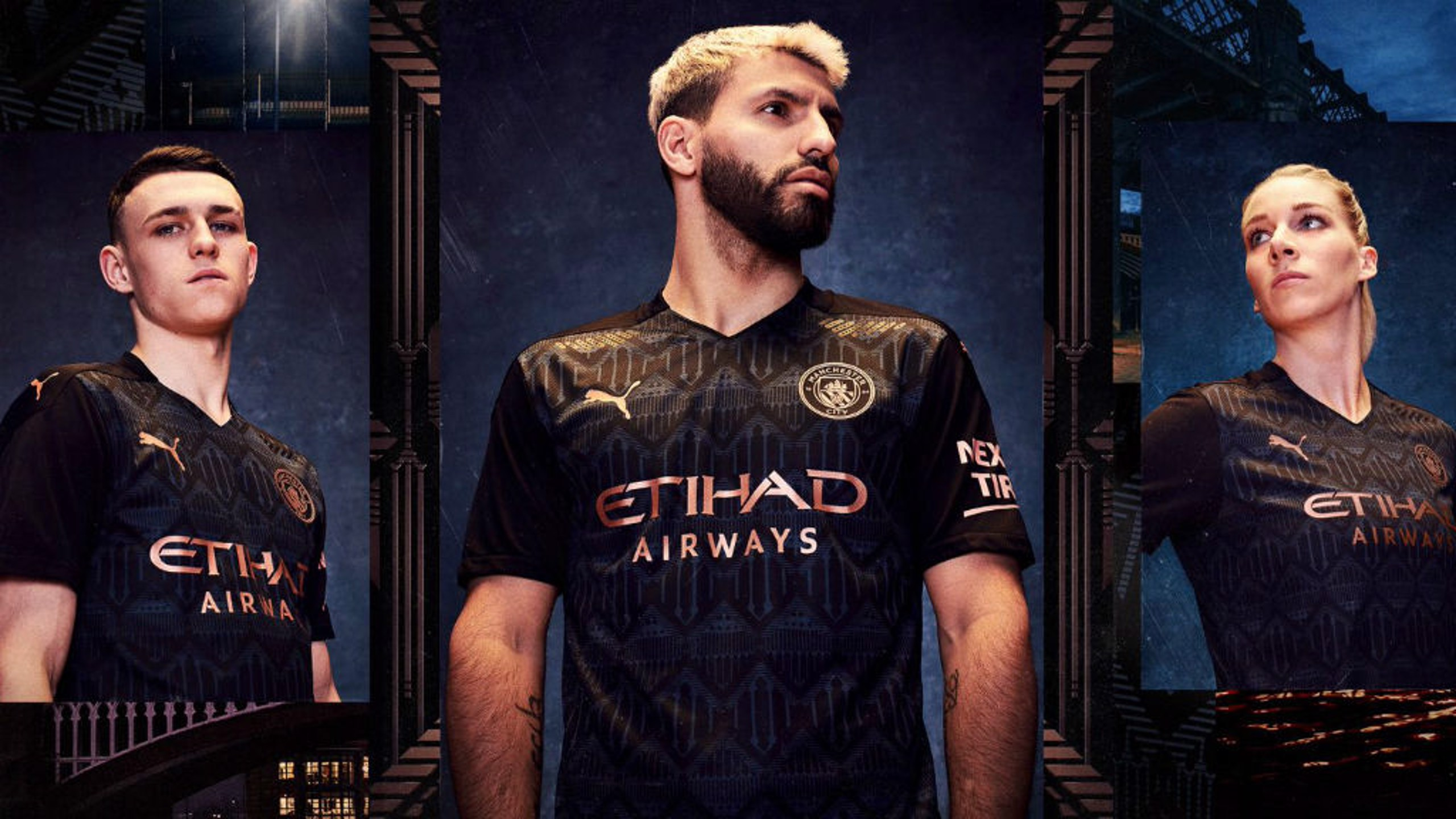 CALL OF DUTY: Phil Foden, Sergio and Gemma Bonner model the new away kit