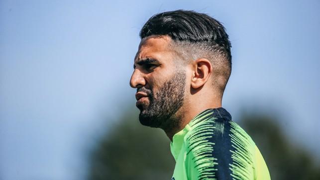 RIYAD READY : Riyad Mahrez, targeting another magic moment at Wembley?