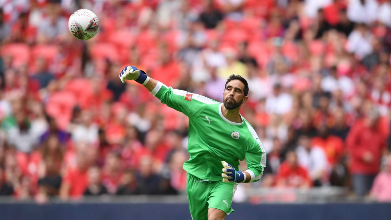 MATCH-WINNER: Claudio Bravo was City's Community Shield hero at Wembley.