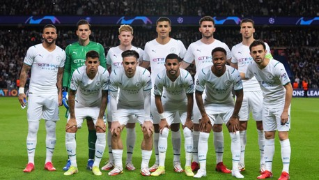 SQUAD GOALS: The starting team pose for a picture ahead of kick-off.