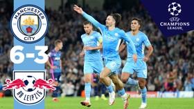 City 6-3 Leipzig: Highlights