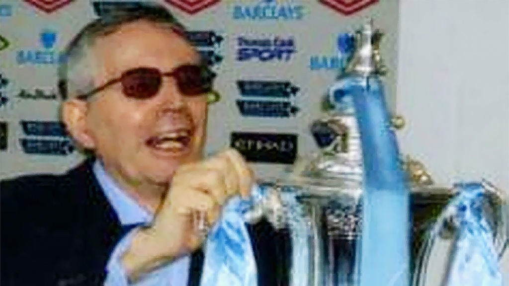 MAGIC MOMENT : Frank pictured holding the FA Cup aloft after our 2011 triumph