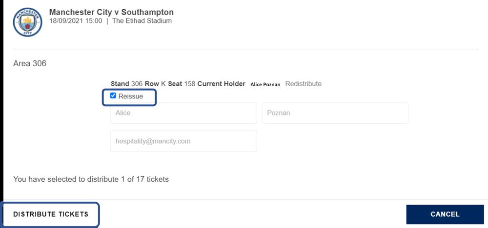 Reissue ticket
