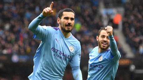 GUNDO GOAL: Ilkay Gundogan enjoyed that one - and rightly so!