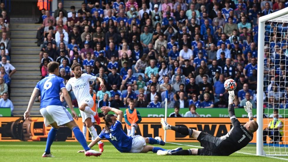 SILVA SERVICE : Bernardo Silva smashes home the game's only goal