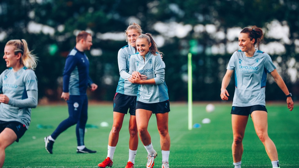 FORWARD THINKING : Filippa Angeldahl and Georgia Stanway are already striking up a good partnership