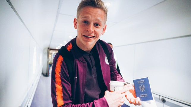 "HOMEWARD BOUND : ""We're going to the best country!"" said Oleks Zinchenko"