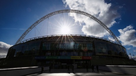 HOME OF FOOTBALL: Wembley looks as beautiful as always under the sun.