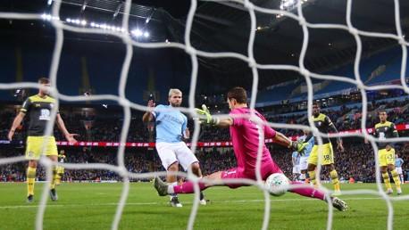SEALED: Sergio Aguero makes it 3-0.