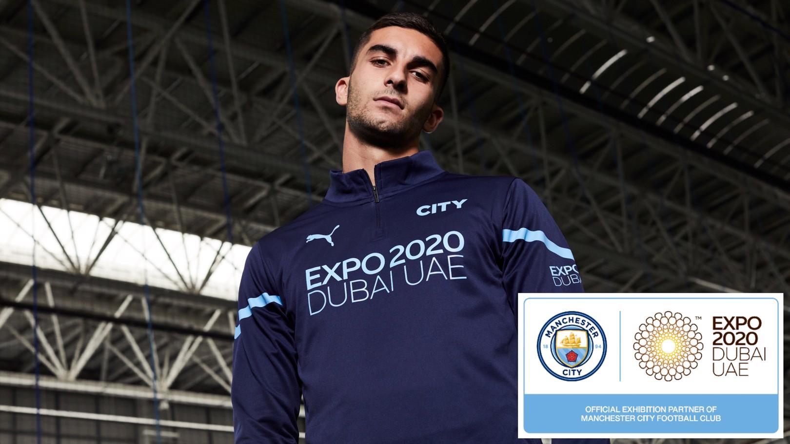 Manchester City unveils Expo 2020 Dubai as new training kit partner