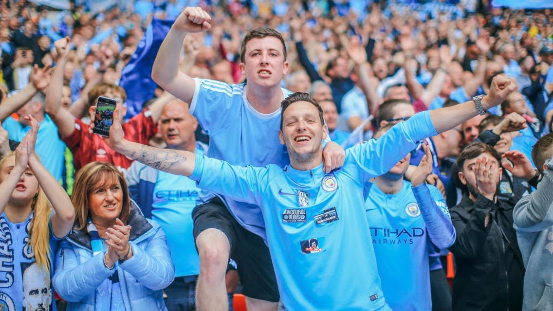 COME ON!: The City fans in full voice