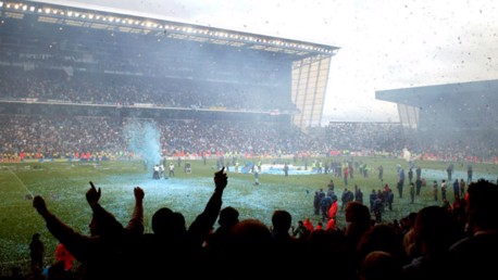 UNFORGETTABLE: The fans are in full voice as we bid farewell to Maine Road