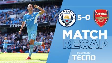 Match Recap: City 5-0 Arsenal