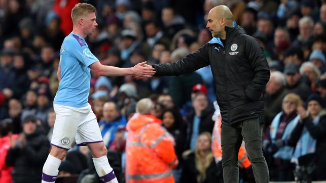 OVER AND OUT : De Bruyne gets Guardiola's seal of approval as City claim all three points.