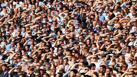 BLINDER: The sun was out for our game against Spurs.