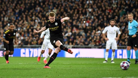 ON THE SPOT: Kevin De Bruyne keeps his cool from 12 yards