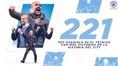 Pep Guardiola, el técnico con más victorias en la historia del City