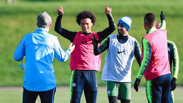 HAND IT TO LEROY! : Our German wing wizard Leroy Sane points the way forward
